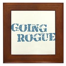 Blue Going Rogue Framed Tile
