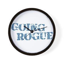 Blue Going Rogue Wall Clock