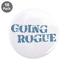 "Blue Going Rogue 3.5"" Button (10 pack)"