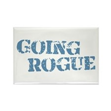 Blue Going Rogue Rectangle Magnet