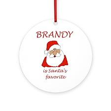 Brandy Christmas Ornament (Round)