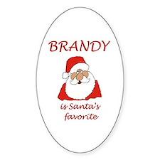 Brandy Christmas Oval Decal
