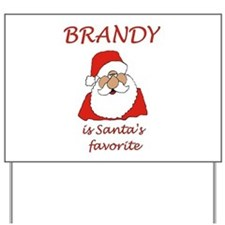 Brandy Christmas Yard Sign