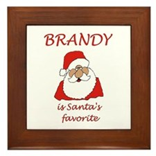 Brandy Christmas Framed Tile