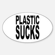 Plastic Sucks Oval Decal