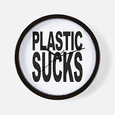 Plastic Sucks Wall Clock