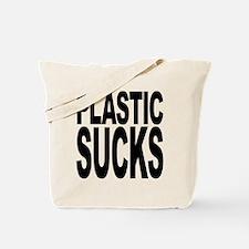 Plastic Sucks Tote Bag