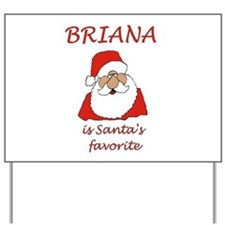 Briana Christmas Yard Sign
