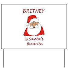 Britney Christmas Yard Sign