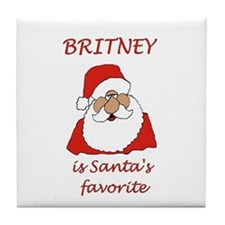 Britney Christmas Tile Coaster
