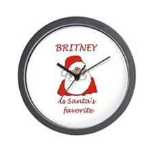 Britney Christmas Wall Clock