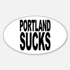 Portland Sucks Oval Decal