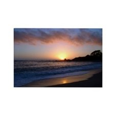 Carmel Beach Sunset Rectangle Magnet (100 pack)