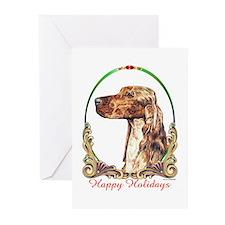 Irish Setter Happy Holidays Greeting Cards (10)
