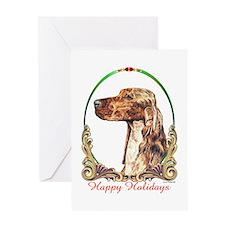 Irish Setter Happy Holidays Greeting Card
