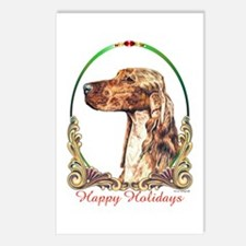 Irish Setter Happy Holidays Postcards (8 Pack)