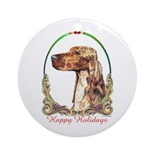 Irish Setter Happy Holidays Ornament (Round)