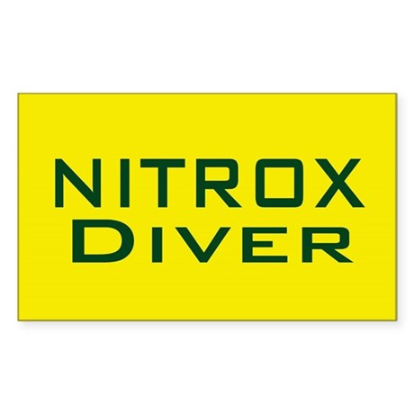 Nitrox Diver Rectangle Sticker
