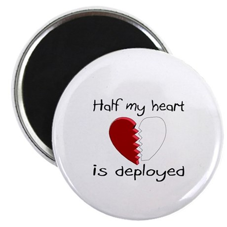 """Half My Heart Is Deployed 2.25"""" Magnet (10 pack)"""