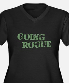 Military Going Rogue Women's Plus Size V-Neck Dark