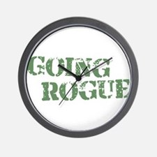 Military Going Rogue Wall Clock