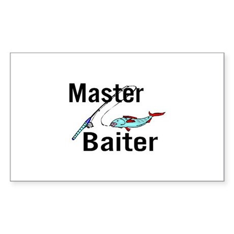 Master Baiter Rectangle Sticker