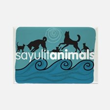 Funny Dogs cats Rectangle Magnet