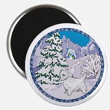 Winter Wonderland Westie Magnet