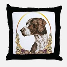 German Shorthaired Christmas Throw Pillow