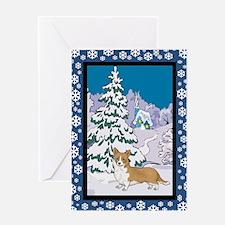 Winter Wonderland Corgi Greeting Card