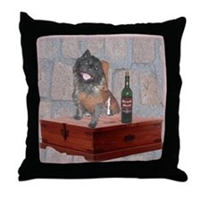 Monastic Cairn Terrier Throw Pillow