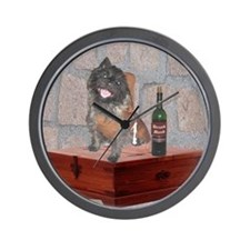 Monastic Cairn Terrier Wall Clock