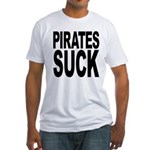 Pirates Suck Fitted T-Shirt