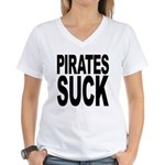 Pirates Suck Women's V-Neck T-Shirt