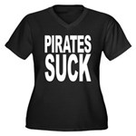 Pirates Suck Women's Plus Size V-Neck Dark T-Shirt