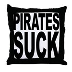Pirates Suck Throw Pillow