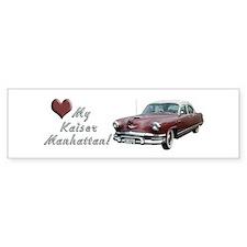 Helaine's 53 Kaiser Manhattan Bumper Bumper Sticker