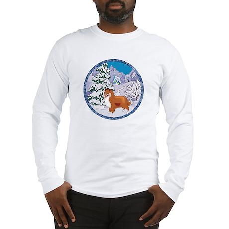 Winter Wonderland Sheltie Long Sleeve T-Shirt