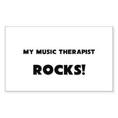 MY Music Therapist ROCKS! Rectangle Decal