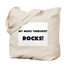 MY Music Therapist ROCKS! Tote Bag