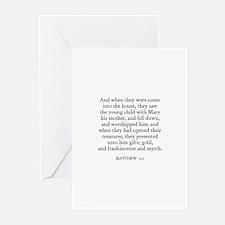 MATTHEW  2:11 Greeting Cards (Pk of 10)