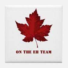 On the EH Team! Oh Canada! Tile Coaster