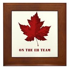 On the EH Team! Oh Canada! Framed Tile