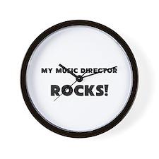 MY Music Director ROCKS! Wall Clock