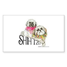 Two Shih Tzu! Rectangle Decal