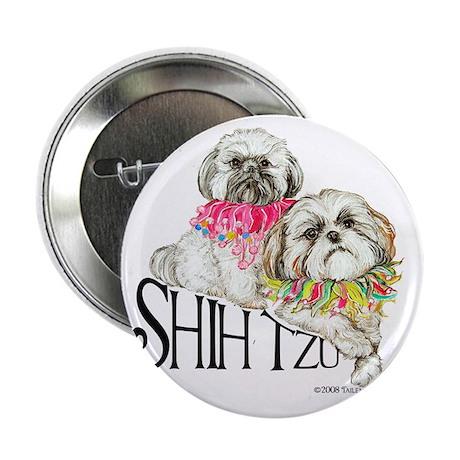 "Two Shih Tzu! 2.25"" Button"