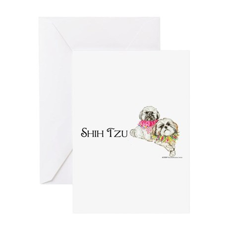 Two Shih Tzu! Greeting Card