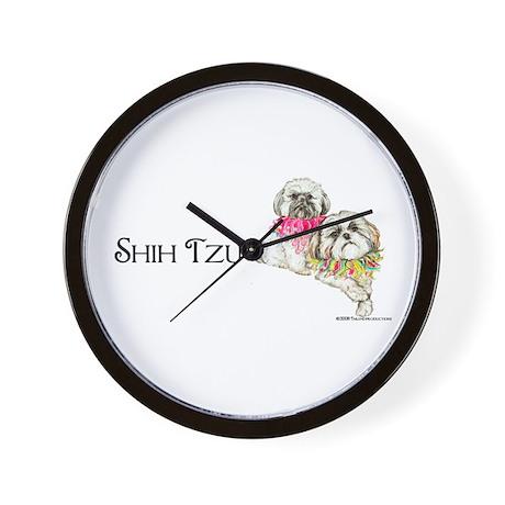 Two Shih Tzu! Wall Clock