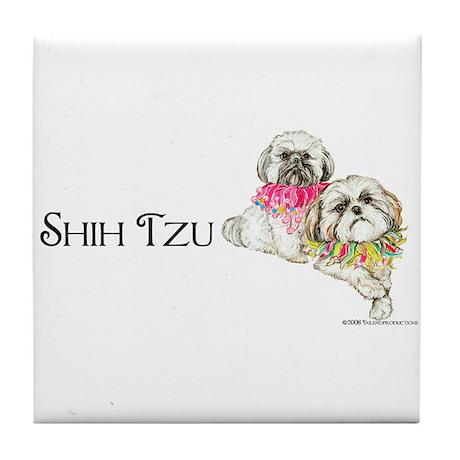 Two Shih Tzu! Tile Coaster