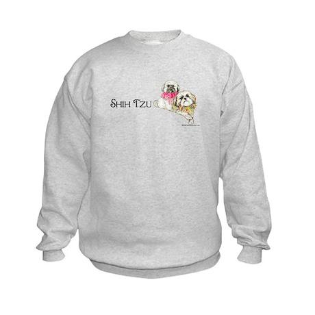 Two Shih Tzu! Kids Sweatshirt